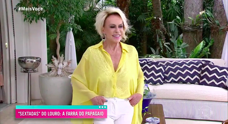"""Ana Maria durante programa """"Mais Você"""" desta sexta-feira, 27 (Reprodução)"""