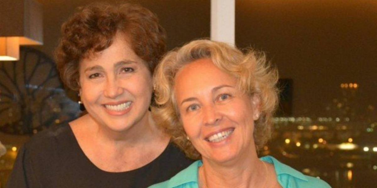 Cláudia Jimenez com a ex-mulher, Stella Torreão (Foto: Reprodução)
