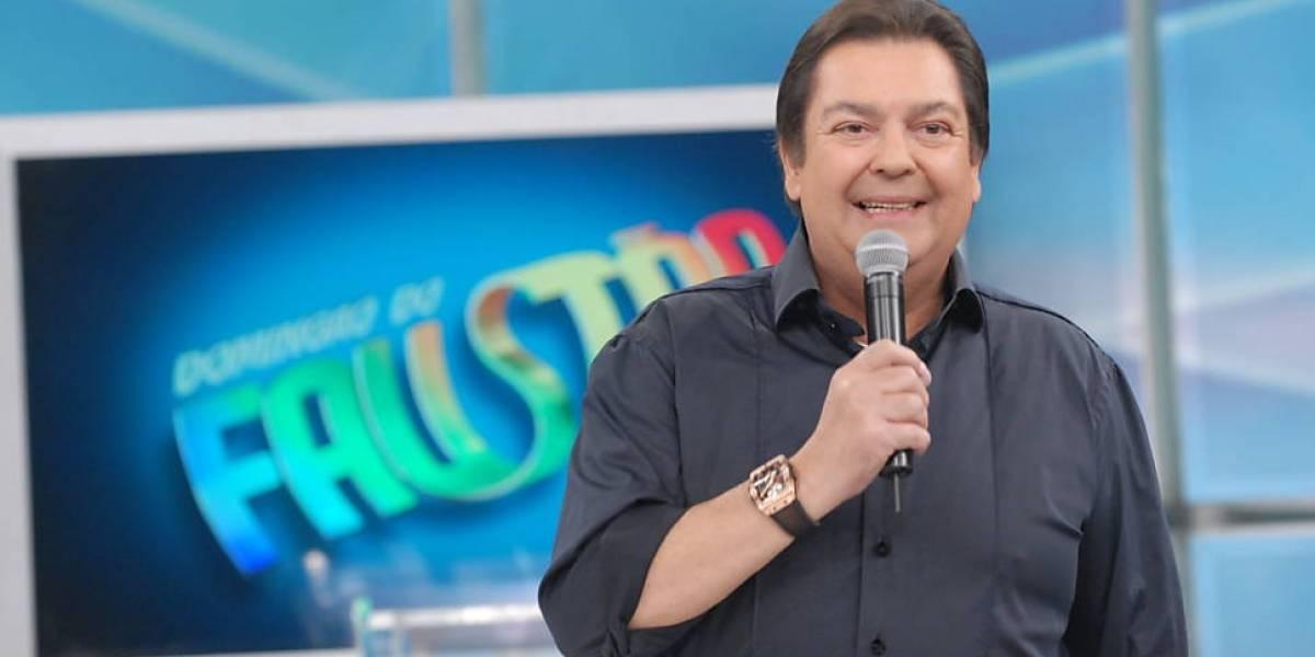 Faustão à frente de seu programa dominical (Foto: Divulgação / TV Globo)