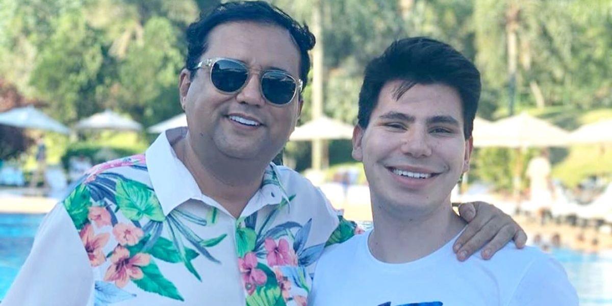 Geraldo Luís ao lado do filho (Foto: Reprodução)