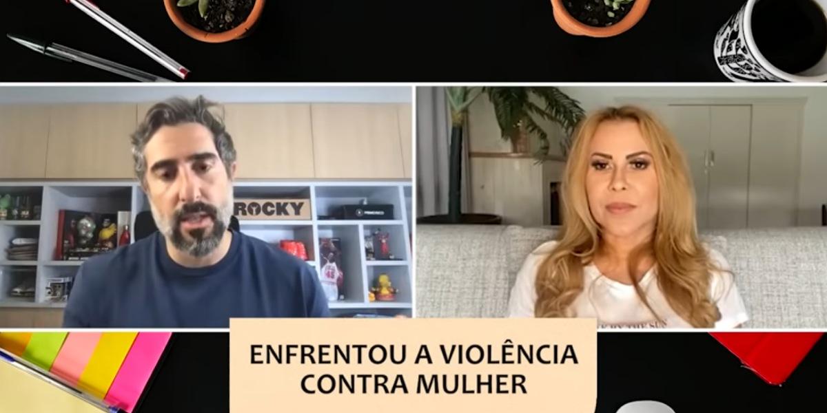 Joelma em entrevista para o canal de Marcos Mion (Foto: Reprodução/YouTuber)