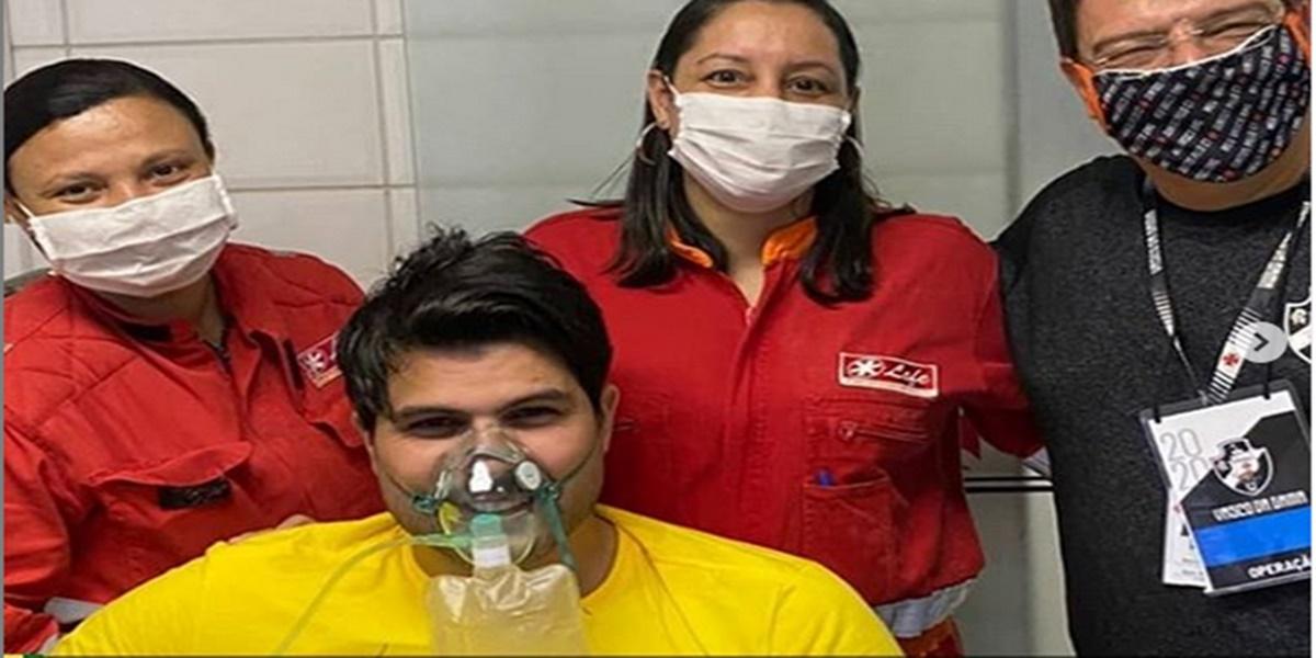 Marcelo Bimbi foi socorrido por médicos (Foto: Reprodução)