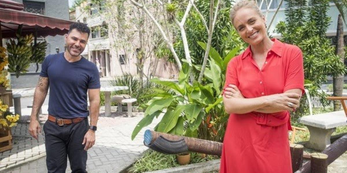 Rodrigo Sant'anna em entrevista com Angélica no Simples Assim (Foto: Reprodução/TV Globo/João Miguel Jr.)