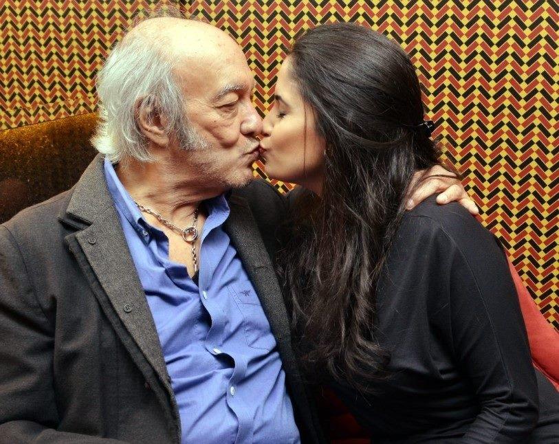 Erasmo Carlos e namorada (Foto: Divulgação)