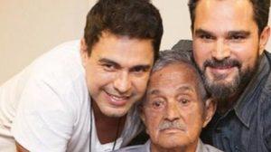 Zezé di Camargo e Luciano ao lado do pai, Seu Francisco (Foto: Reprodução)
