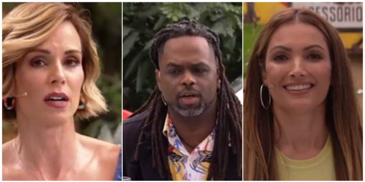 Ana Furtado, Manoel Soares e Patrícia Poeta homenagearam Tom Veiga - Foto: Reprodução