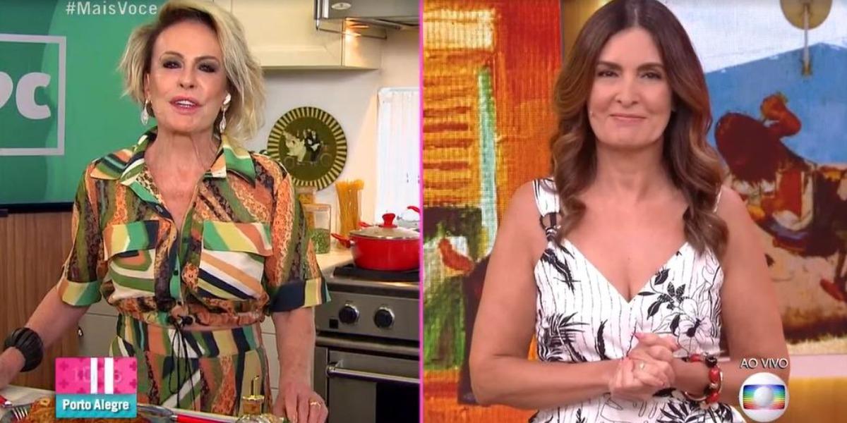 """Ana Maria Braga e Fátima Bernardes no """"Mais Você"""" de hoje (Foto: Reprodução/TV Globo)"""