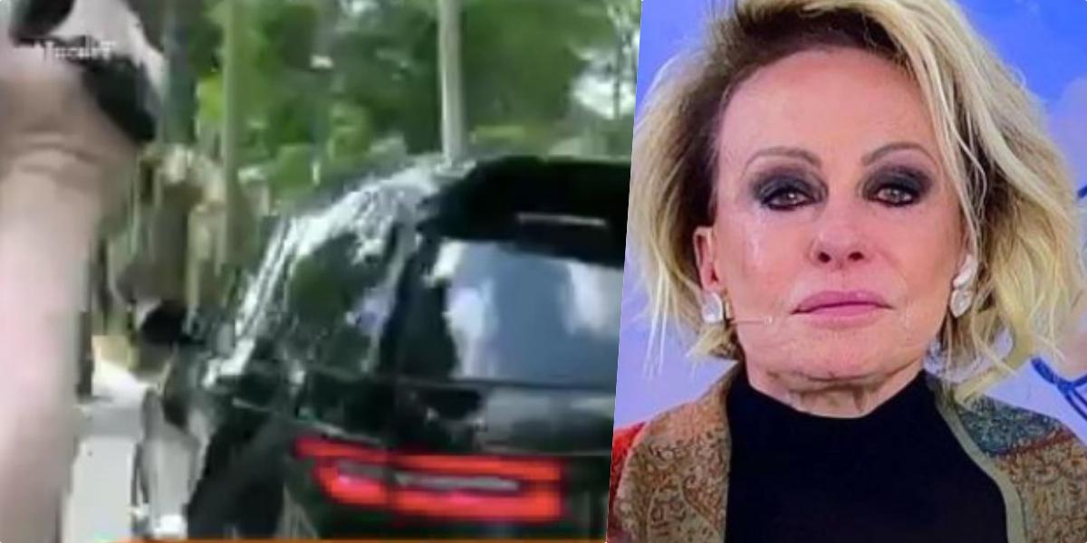 Ana Maria Braga foi até o velório de Tom Veiga, o eterno Louro José (Foto reprodução)