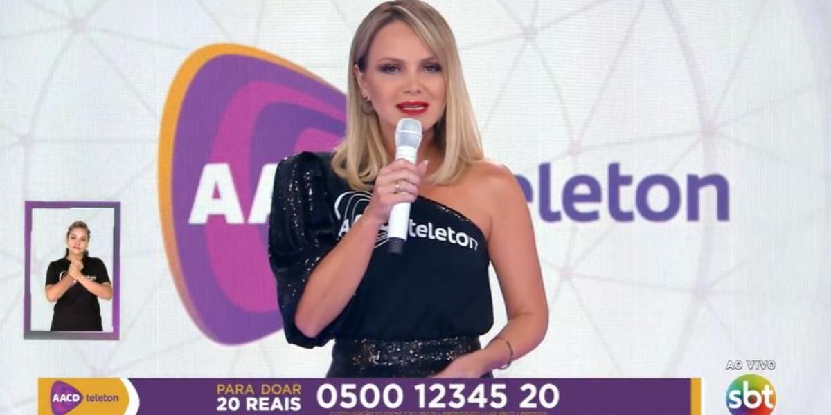 Eliana no Teleton, que foi mal de audiência (Foto: Reprodução/SBT)