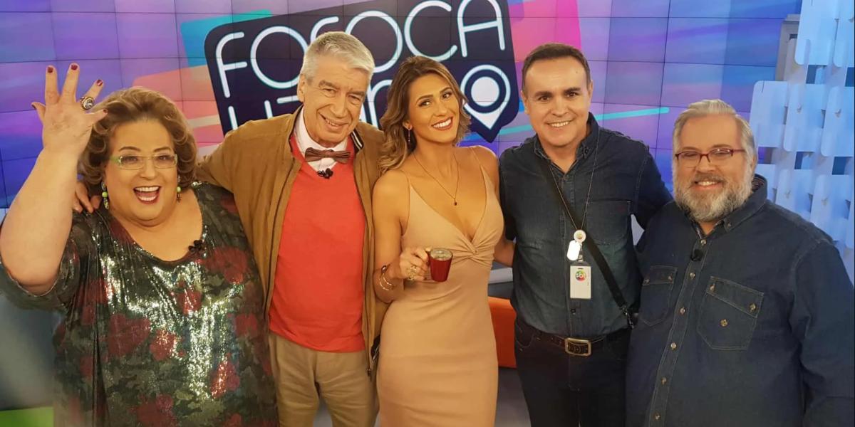 Caco Rodrigues com antiga equipe do Fofocalizando (Foto: Reprodução)