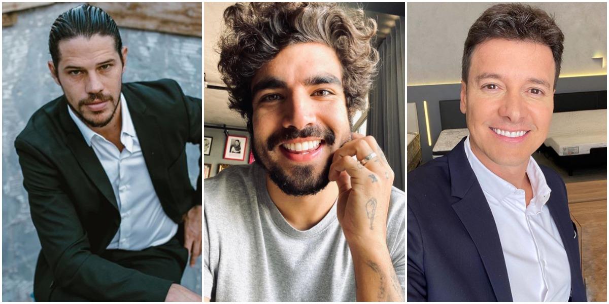 Caio Castro, José Loreto e Rodrigo Faro são os famosos taxados de bem dotados (Foto: Reprodução)