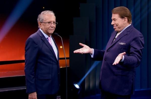 O apresentador e Silvio Santos (Foto: Reprodução)
