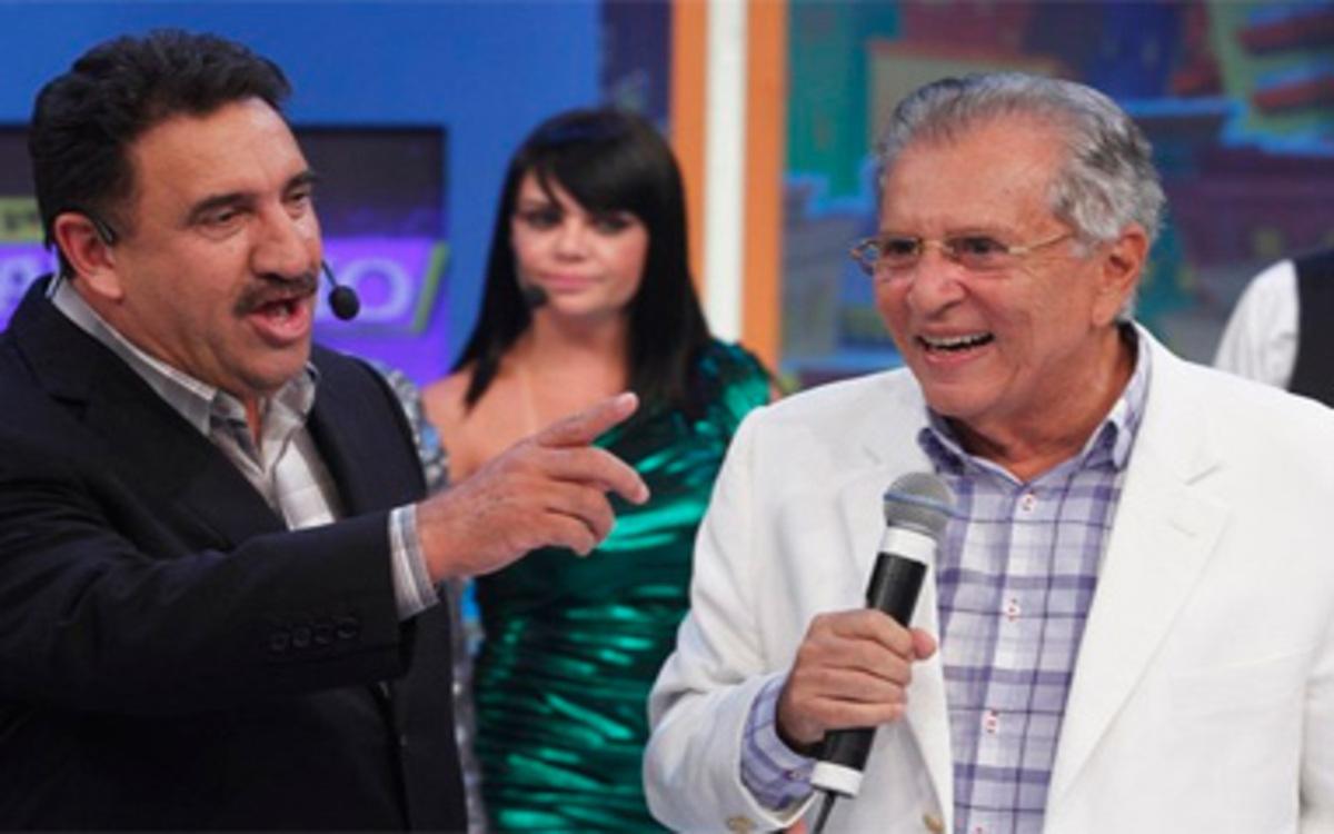 Ratinho e Carlos Alberto de Nóbrega (Foto: Divulgação)