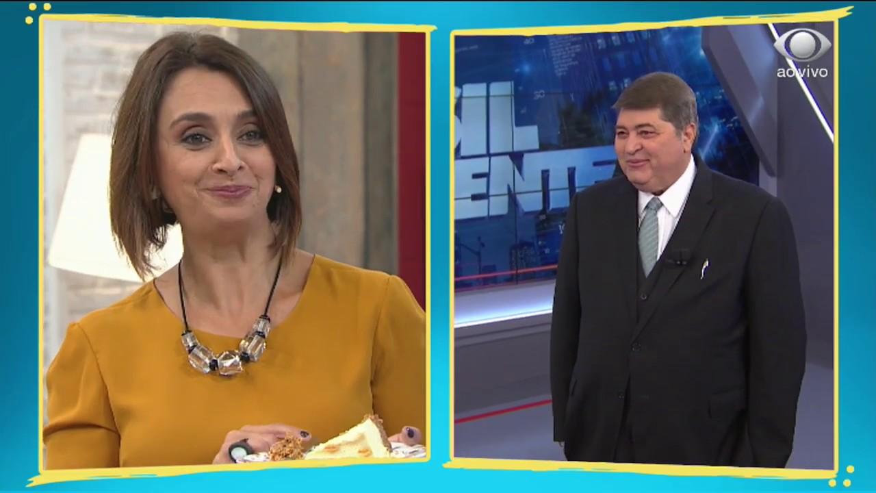 Catia Fonseca e Datena (Foto: Divulgação)