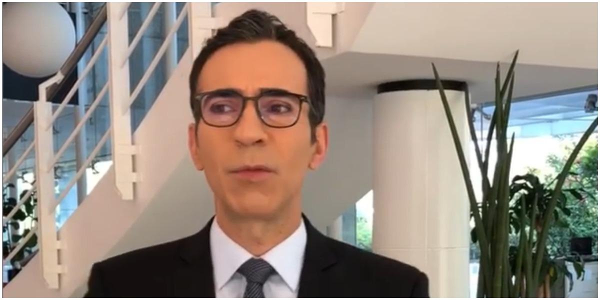 César Tralli expõe bastidores na Globo e fãs se espantam (Foto: Reprodução)