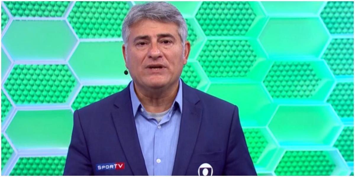 O narrador da Globo, Cléber Machado, polemizou - Foto: Reprodução