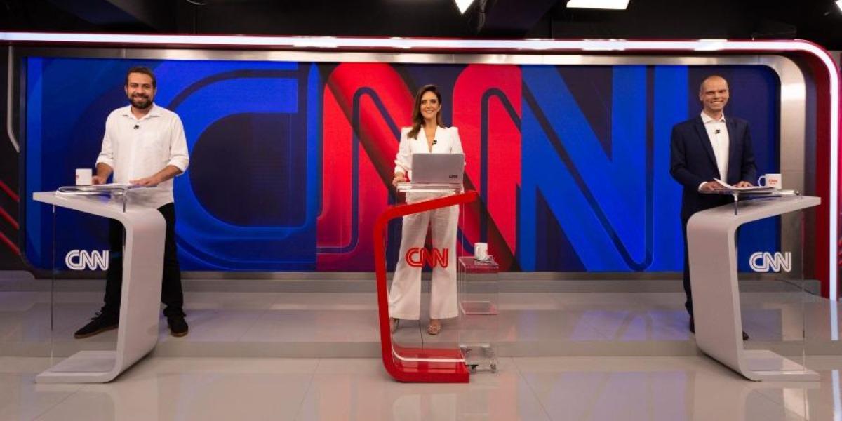 Debate de Covas e Boulas na CNN (Foto: Reprodução)
