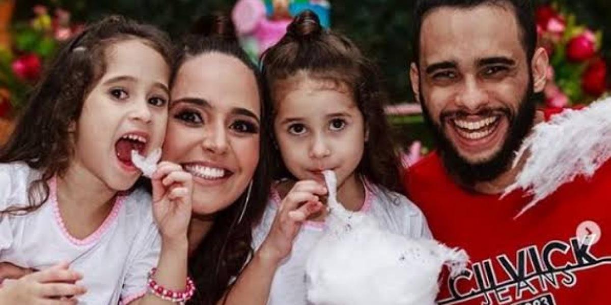 Perlla e Cássio Castilhol dividem a guarda das filhas a partir de agora (Foto: Reprodução)