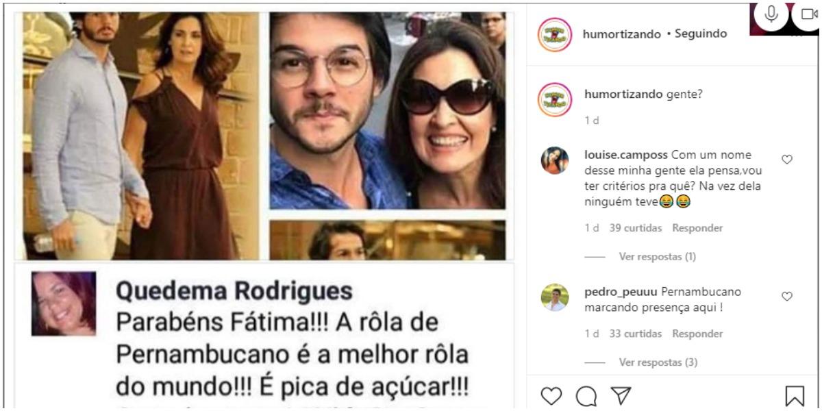 Fátima Bernardes teve que lidar com piada sobre parte íntima de namorado (Foto: Reprodução)