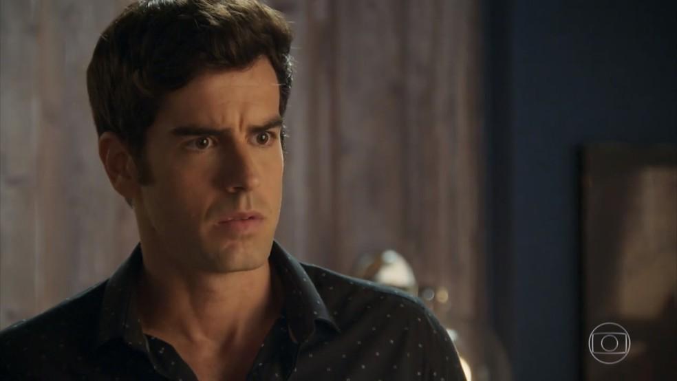 Felipe em cena da novela das 19h, Haja Coração - Foto: Reprodução