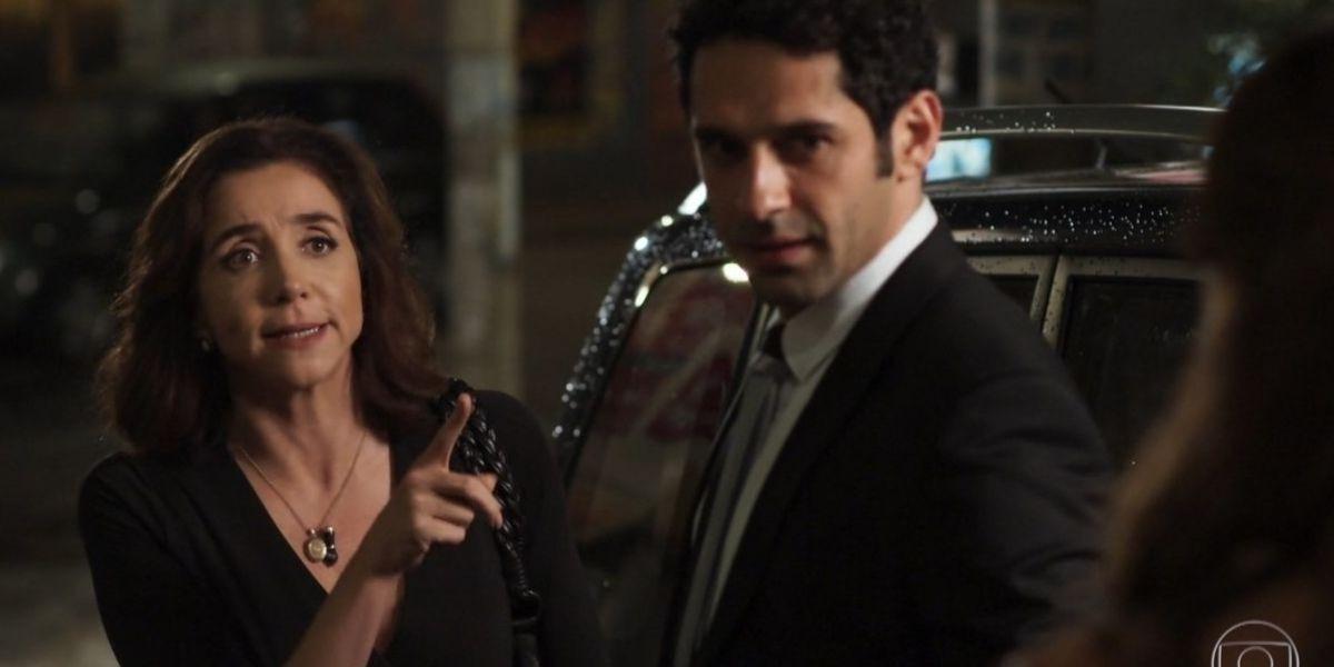 Francesca e Beto a noite em cena da novela Haja Coração