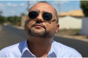 Geraldo Luís se declarou para o apresentador Marcelo Rezende (Foto: Reprodução)