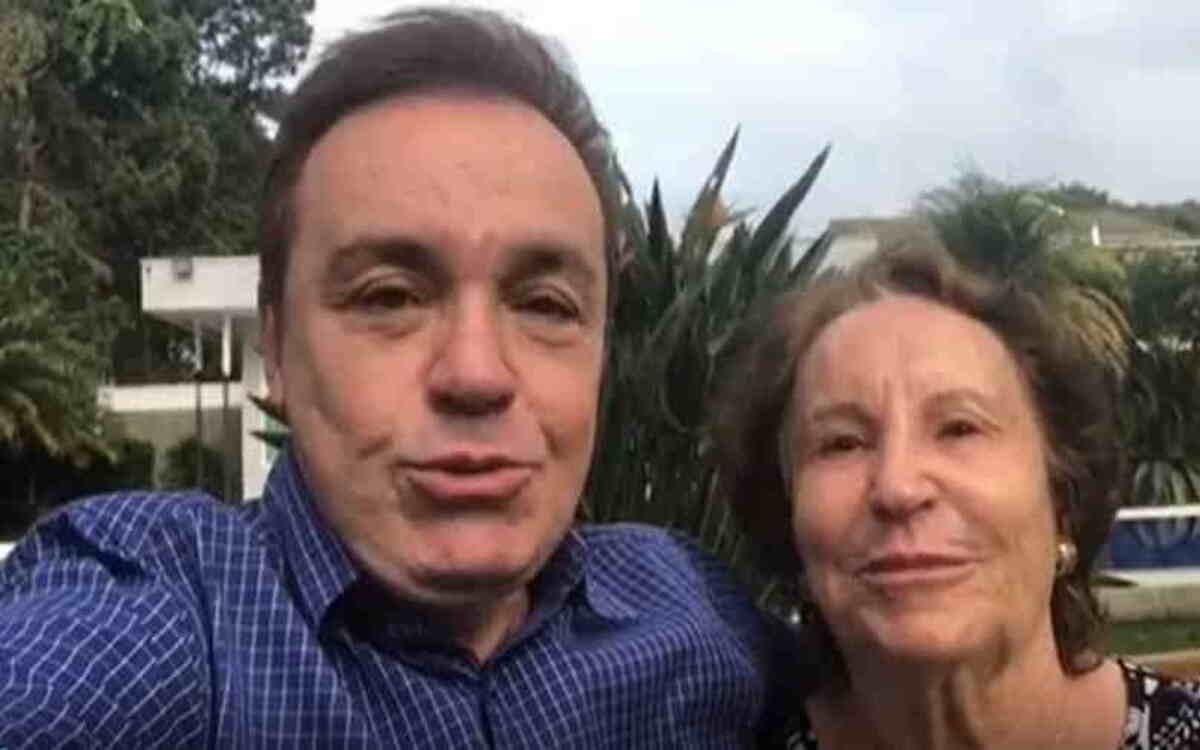 Gugu e sua mãe (Foto: Divulgação)