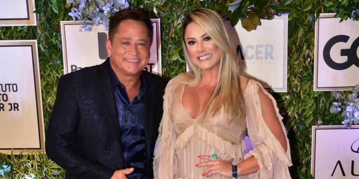 Leonardo e Poliana Rocha são casados (Foto: AgNews)