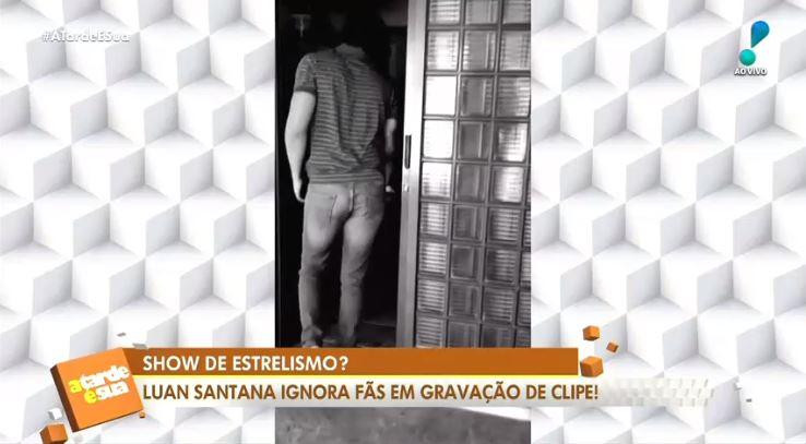 Luan Santana ignorou fãs na gravação de um clipe (Foto: Reprodução/RedeTV!)