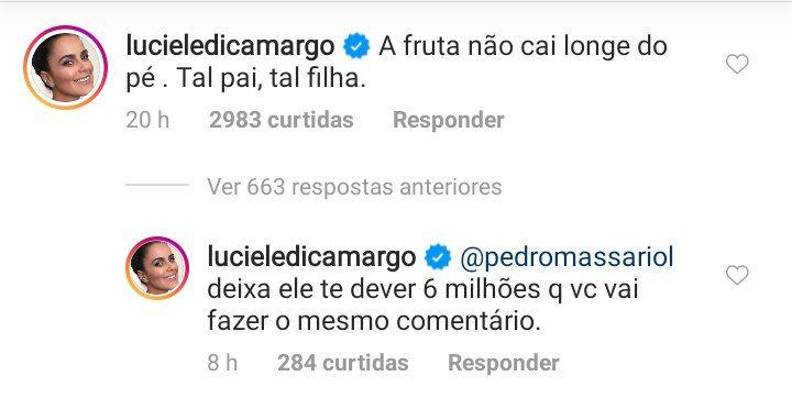 Luciele Di Camargo falou de Denílson e Belo (Foto: Reprodução)