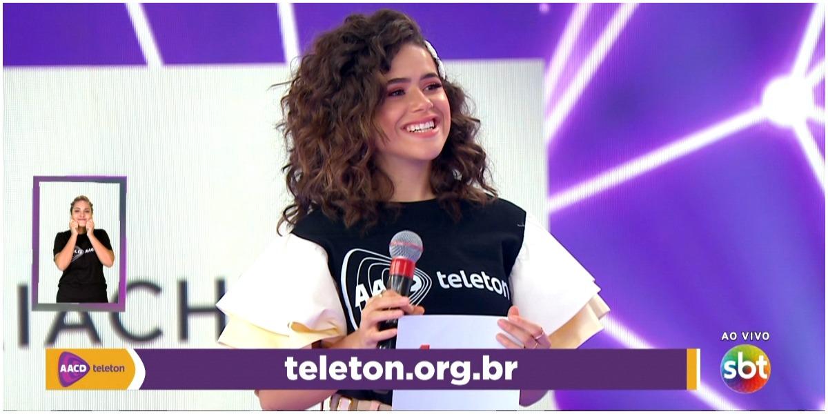 Maisa Silva cumpriu promessa e voltou ao SBT para participar do Teleton (Foto: Reprodução)