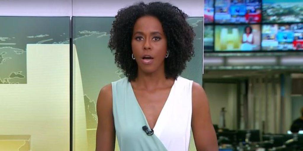 """Maju Coutinho no """"Jornal Hoje"""" (Foto: Reprodução/TV Globo)"""