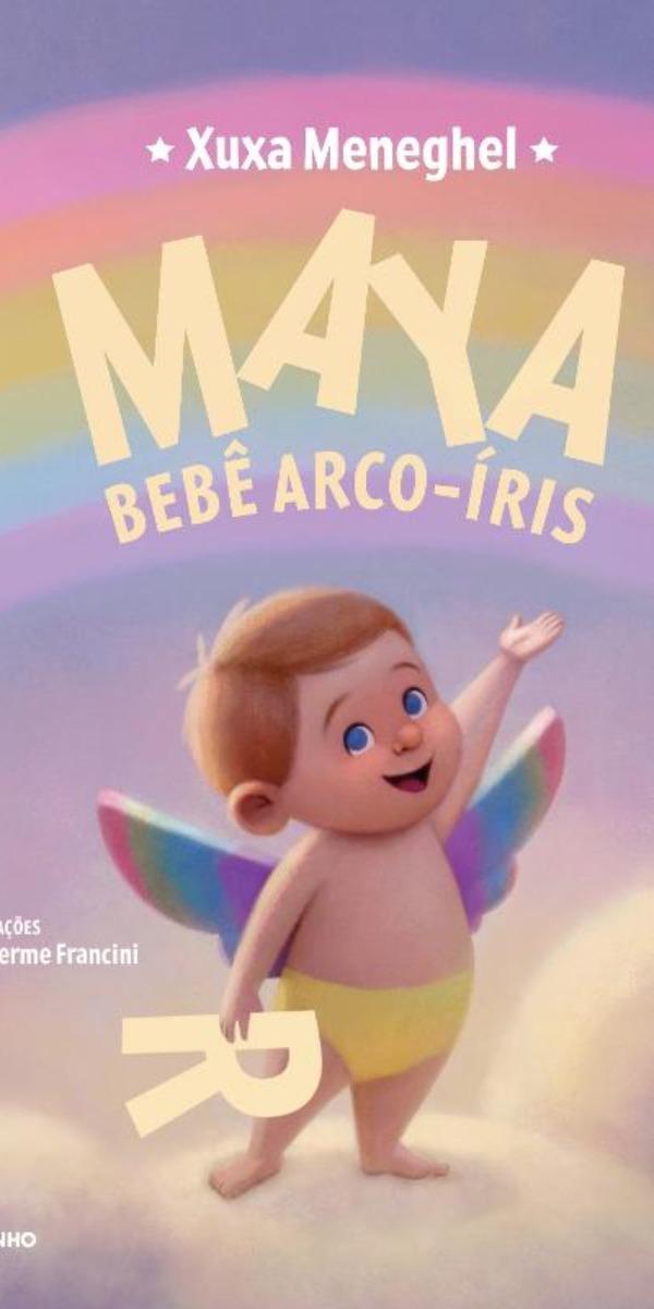 """Capa do livro """"Maya Bebê Arco-Íris"""" (Foto: Reprodução)"""