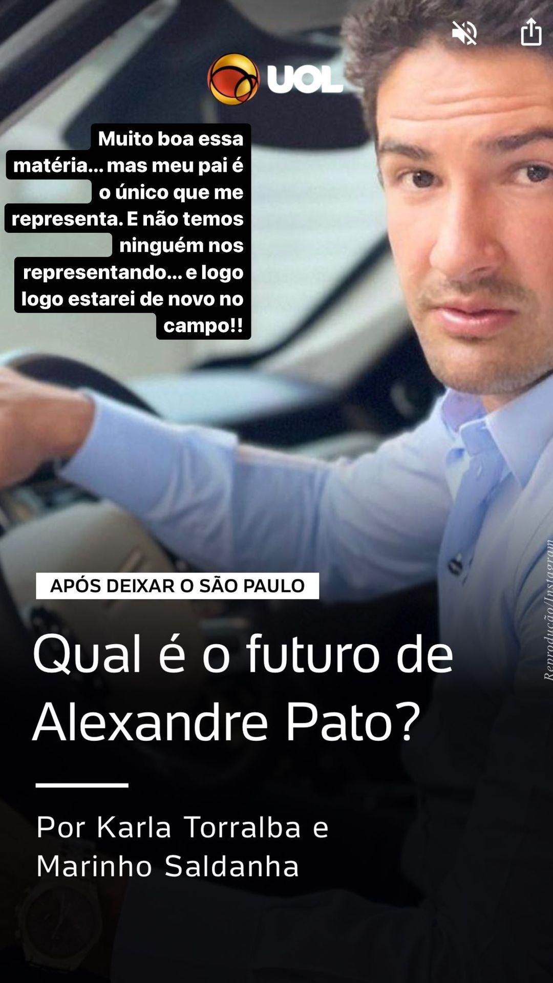 Pato se pronunciou nas redes sociais (Foto: Reprodução/Instagram)