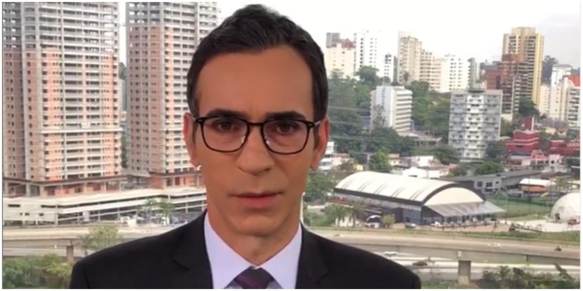 César Tralli tem um dos salários mais altos do jornalismo da Globo (Foto: Reprodução)