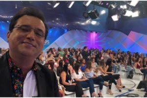Geraldo Luís surge no SBT e mostra bastidores (Foto: Reprodução)