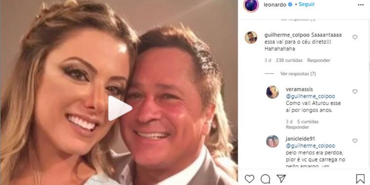 Poliana Rocha ganhou uma homenagem de Leonardo (Foto: Reprodução/Instagram)