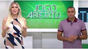 Renata Fan e Denilson no comando do Jogo Aberto - Foto: Reprodução