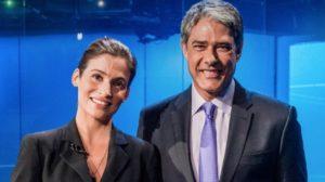 """Renata Vasconcellos e William Bonner são âncoras do """"Jornal Nacional"""" (Foto: Divulgação/TV Globo)"""