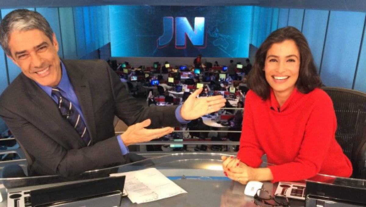 William Bonner e Renata Vasconcellos no Jornal Nacional (Foto: Reprodução)