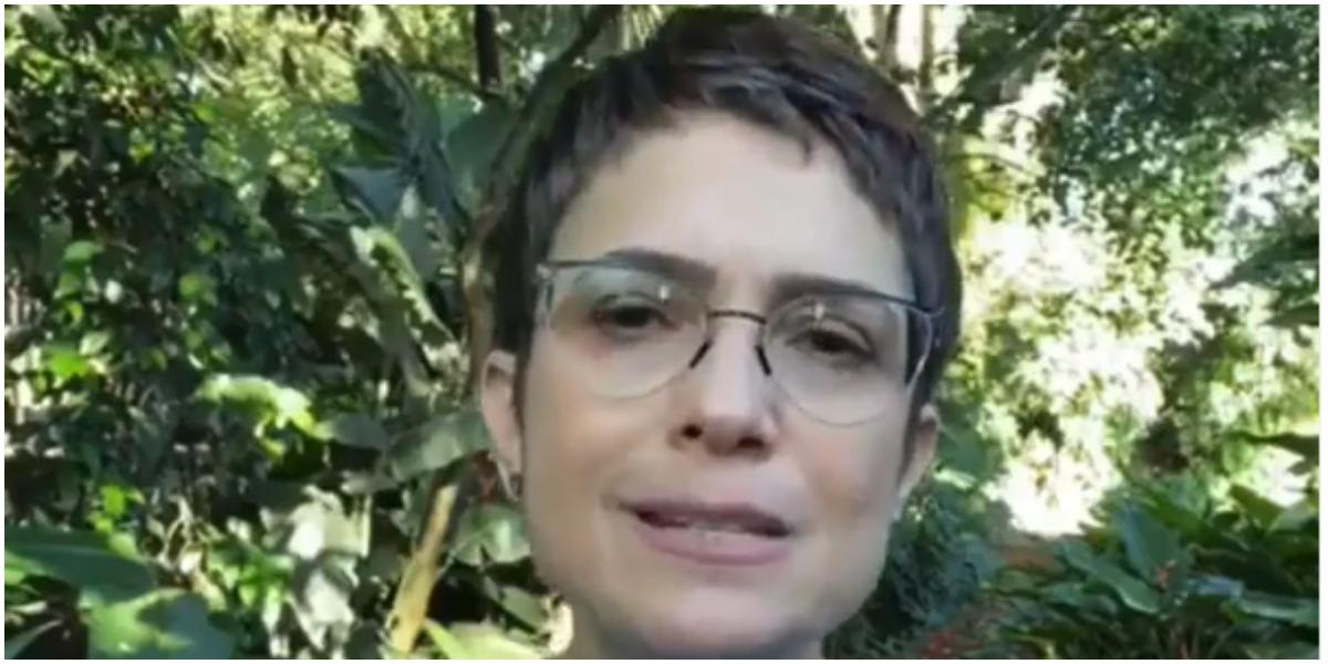 Sandra Annenberg chorou por conta de vídeo emocionante e compartilha com fãs (Foto: Reprodução)