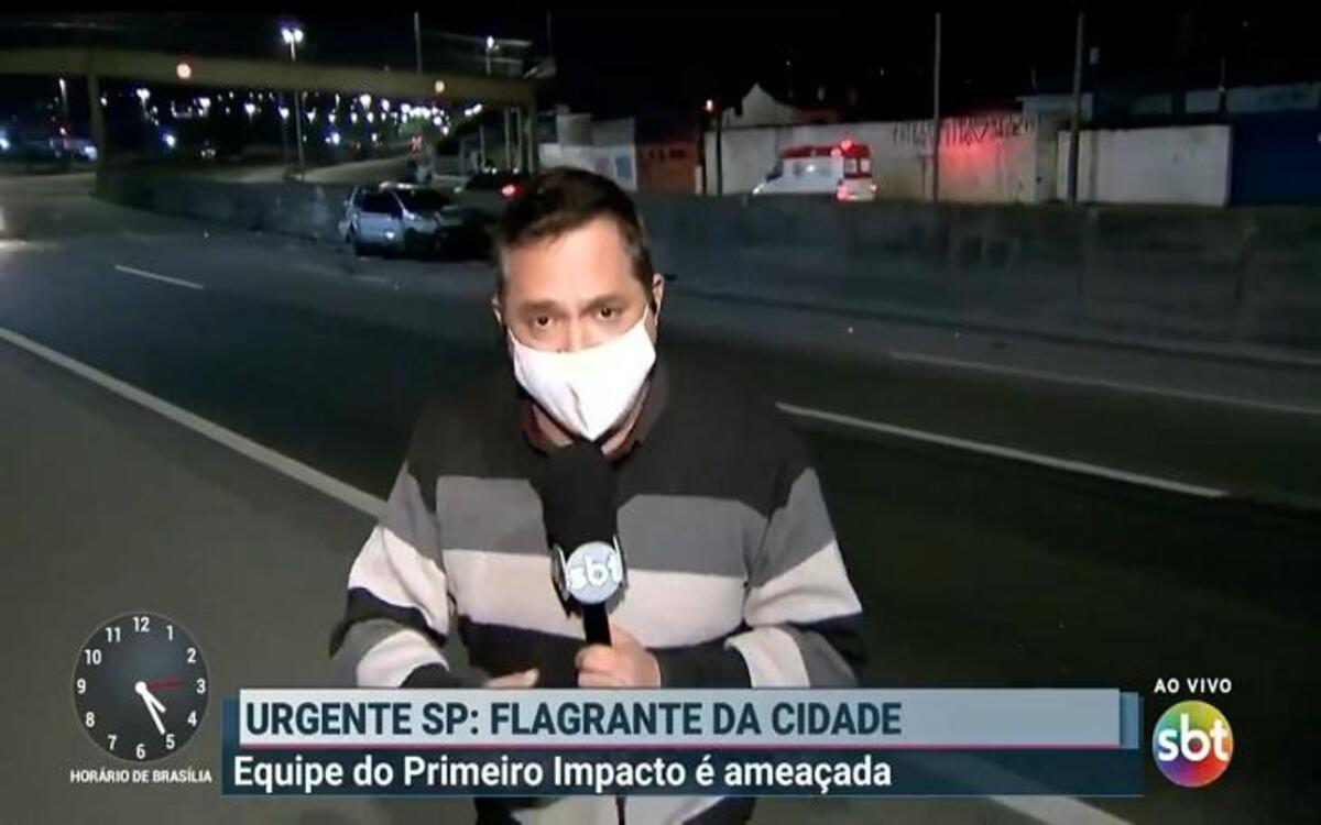 Repórter do SBT passou apuros ao vivo (Foto: Divulgação)
