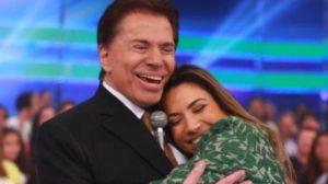 Silvio Santos e Patrícia Abravanel (Foto: Divulgação/SBT)