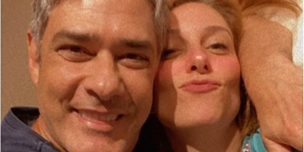 William Bonner e Natasha Dantas estão casados desde 2018 (Foto: Reprodução/TV Globo)