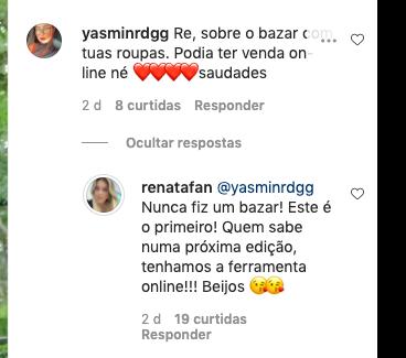 Bazar de Renata Fan (Reprodução)