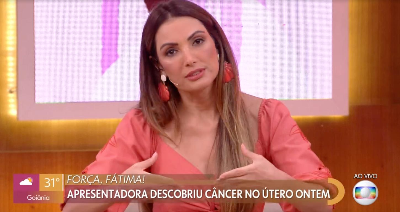 Patricia Poeta fala de câncer de Fátima Bernades (Foto: Reprodução / Globo)