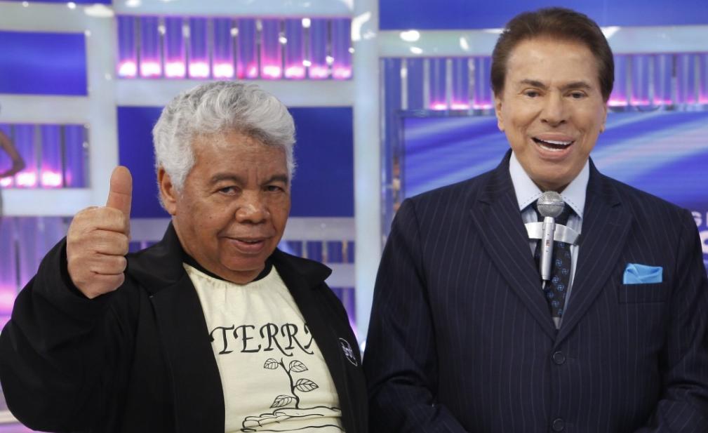 Roque e Silvio Santos (Foto: Reprodução)