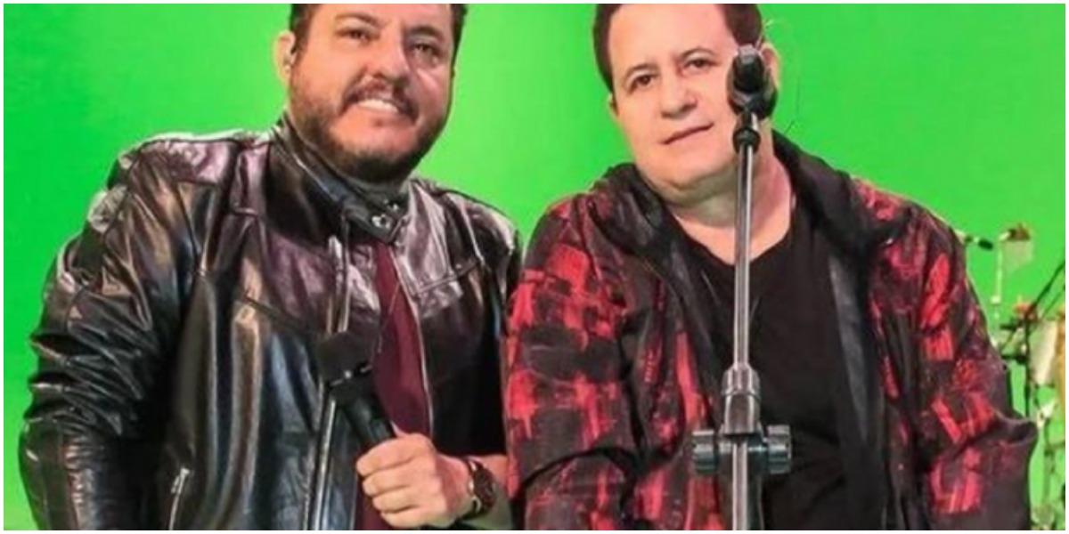 Bruno e Marrone se desentenderam durante live (Foto: Reprodução)
