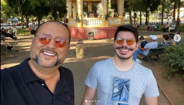Geraldo Luis e o filho (Foto: Reprodução / Instagram)