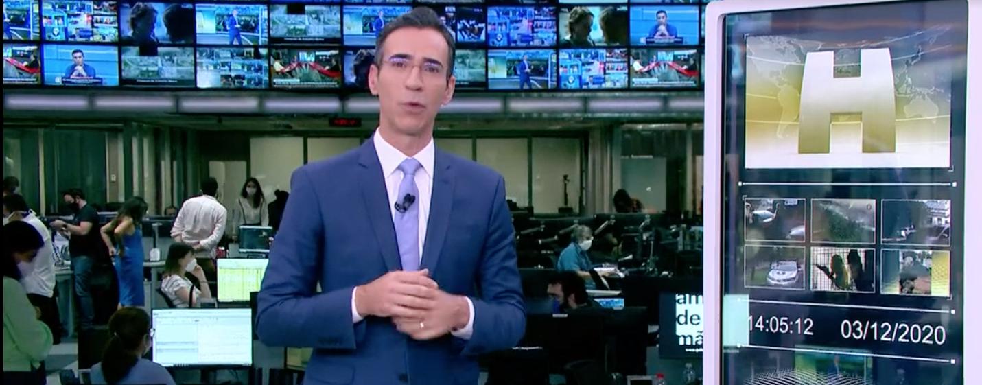 César Tralli está substituindo Maju Coutinho no Jornal Hoje (Foto: Reprodução/Globo)